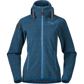 Bergans Hareid Fleece Jacket Dame Stone Blue Melange